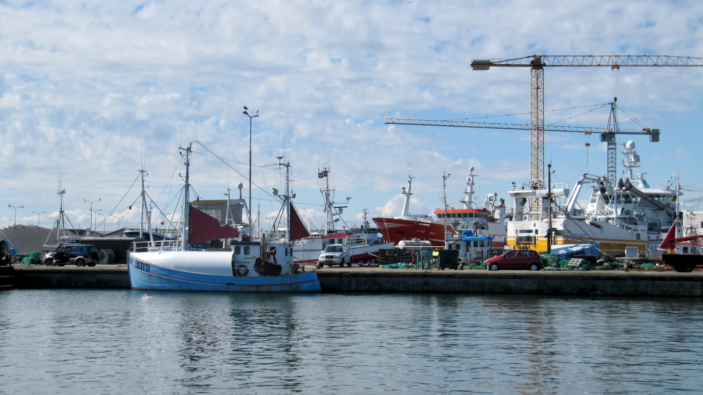 Fishing vessels in Skagen