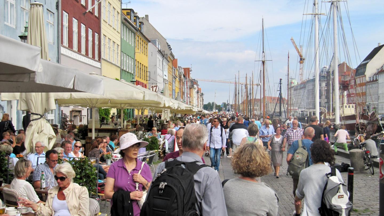 Nyhavn restaurant street in Copenhagen
