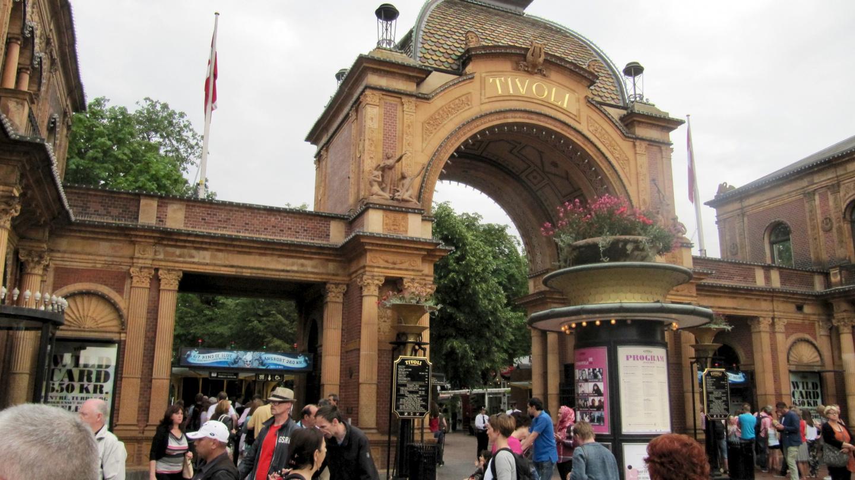 Entrance of Tivoli in Copenhagen