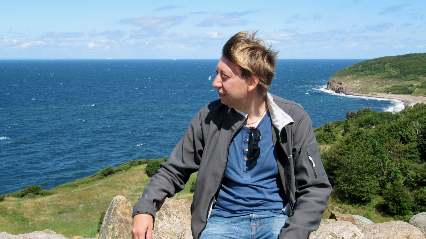 Andrus admires the view of Bornholm