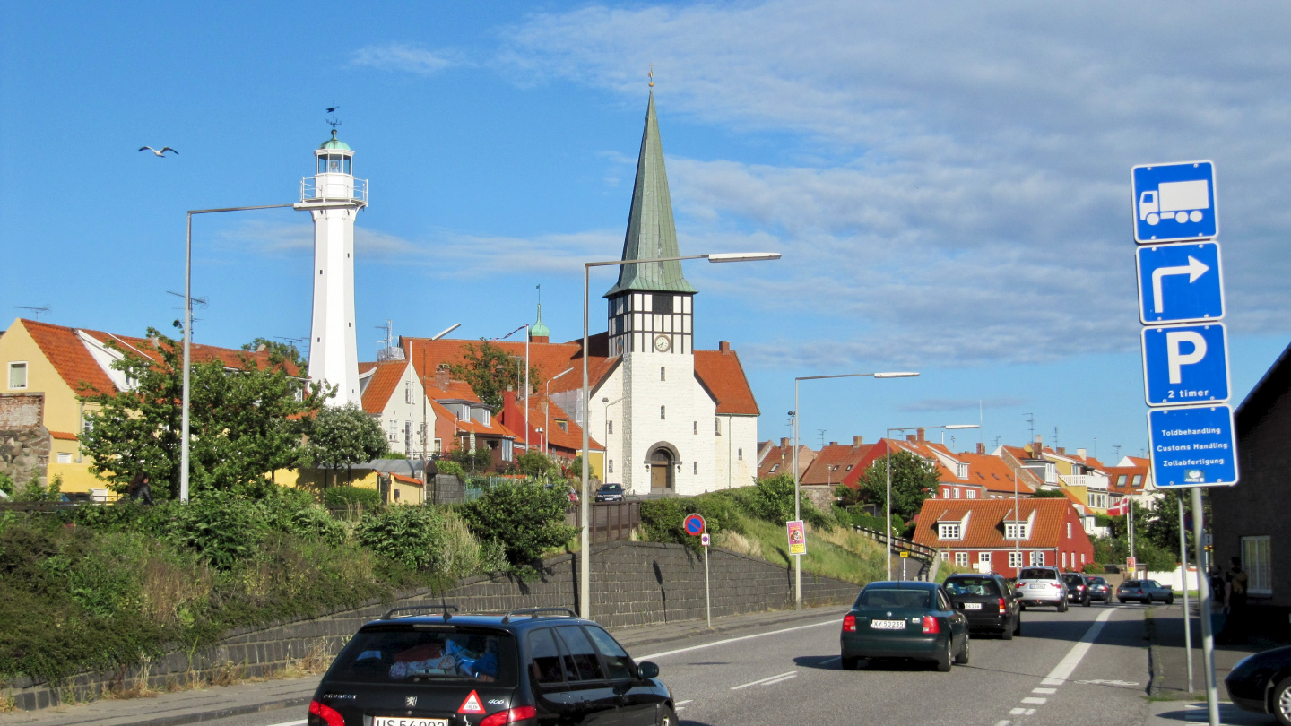Rønne on the island of Bornholm