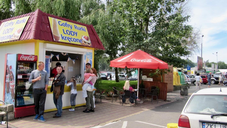 Ice cream and waffles in Kołobrzeg