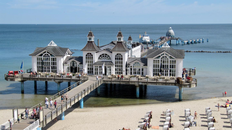Sea bridge called Seebrücke on Rügen island