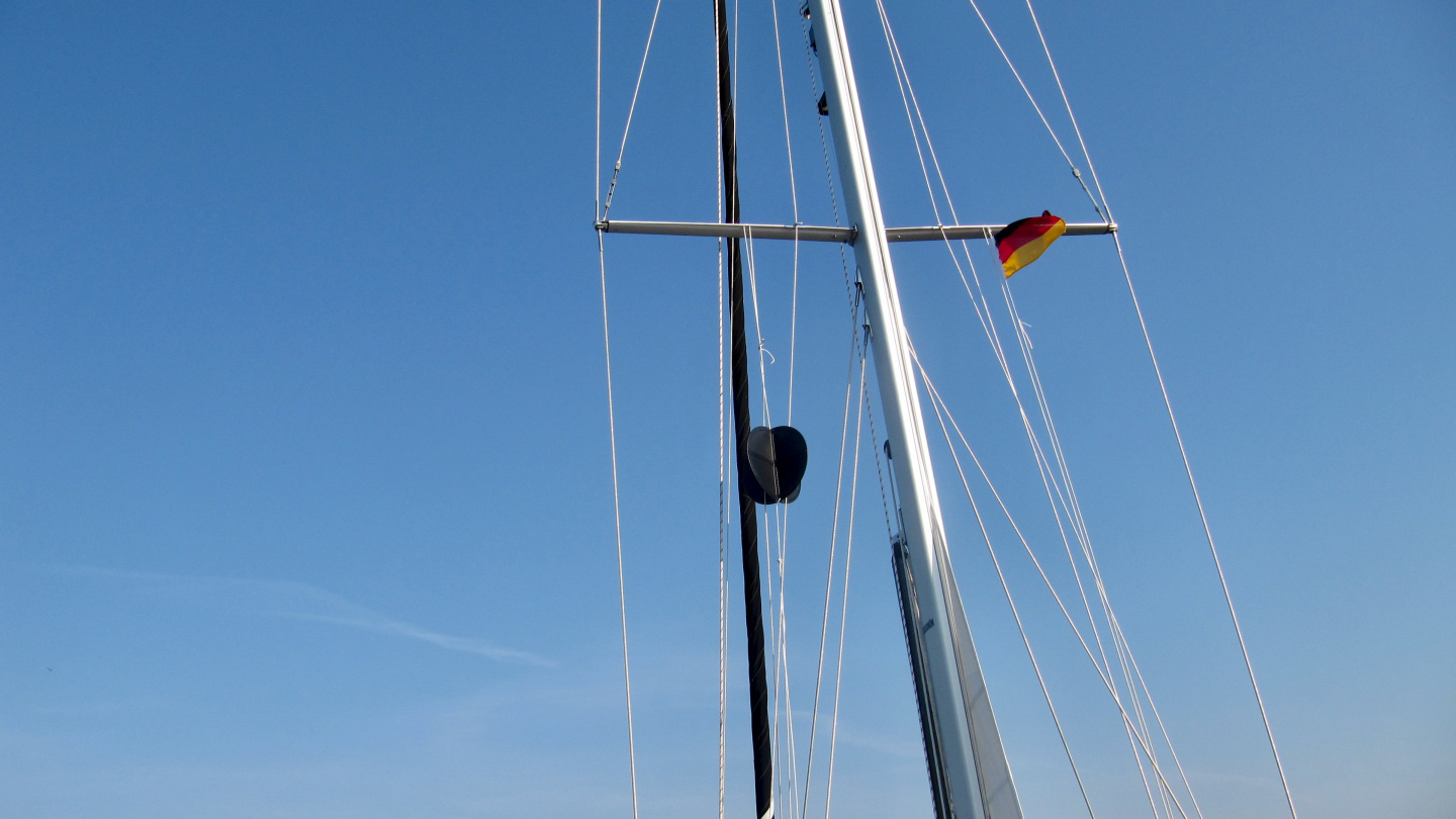 Anchor ball was raised up for the first time in Germany