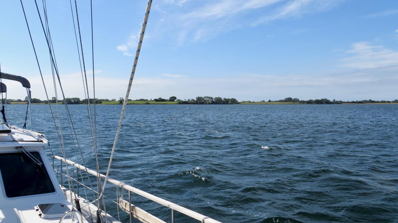 Suwena ankkurissa Høruphav lahdella Tanskassa