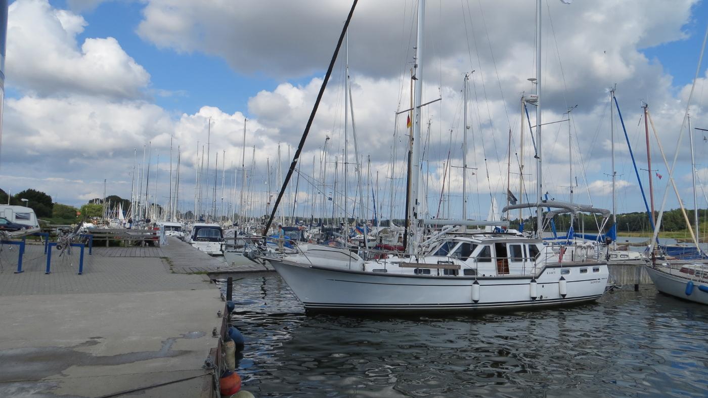 Suwena in Ancker Yachting marina in Kappeln