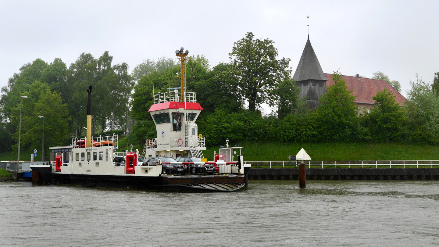The ferry in the Kiel canal