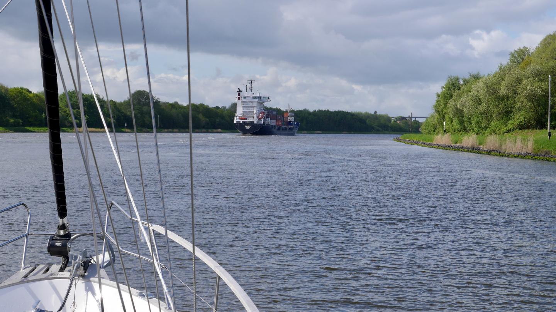 Ships in the Kiel canal