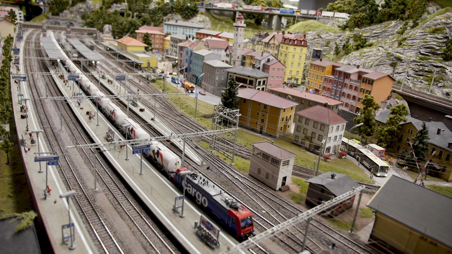 Model trains at Miniatur Wunderland in Hamburg