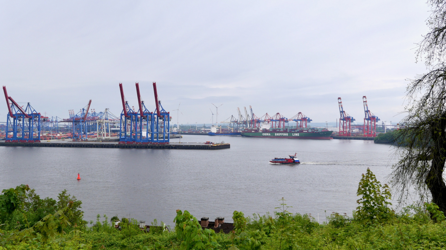 The container port of Hamburg
