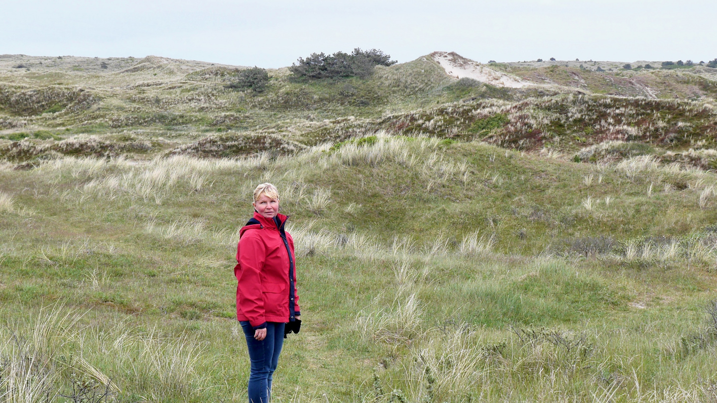 Eve on the sand dunes of Vlieland