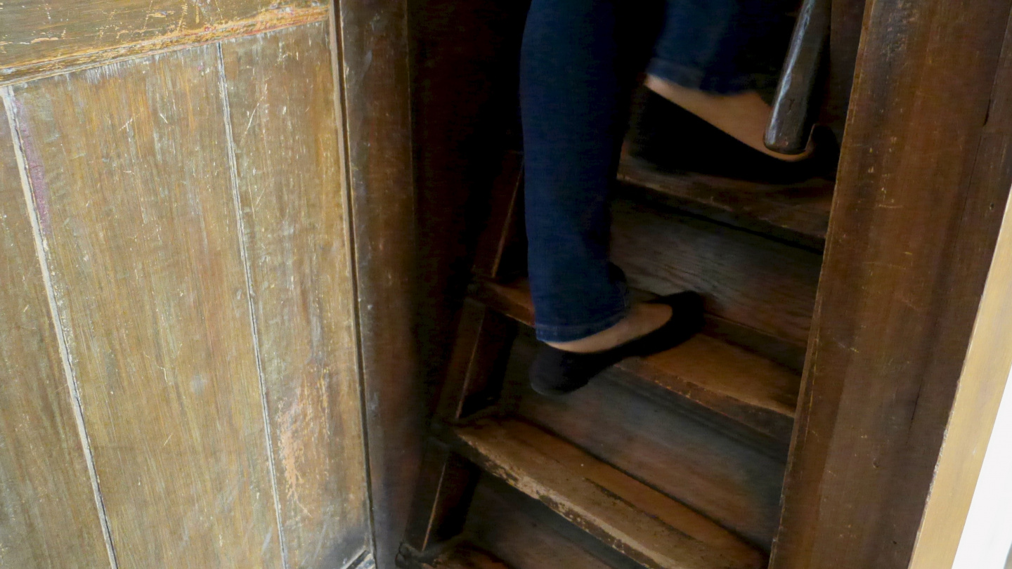 Steep stairs in the Edam museum