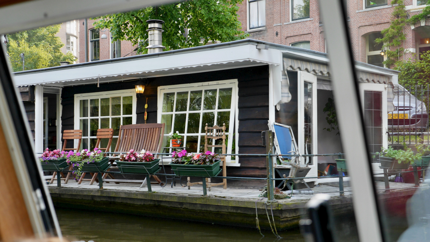 The houseboat in Amsterdam