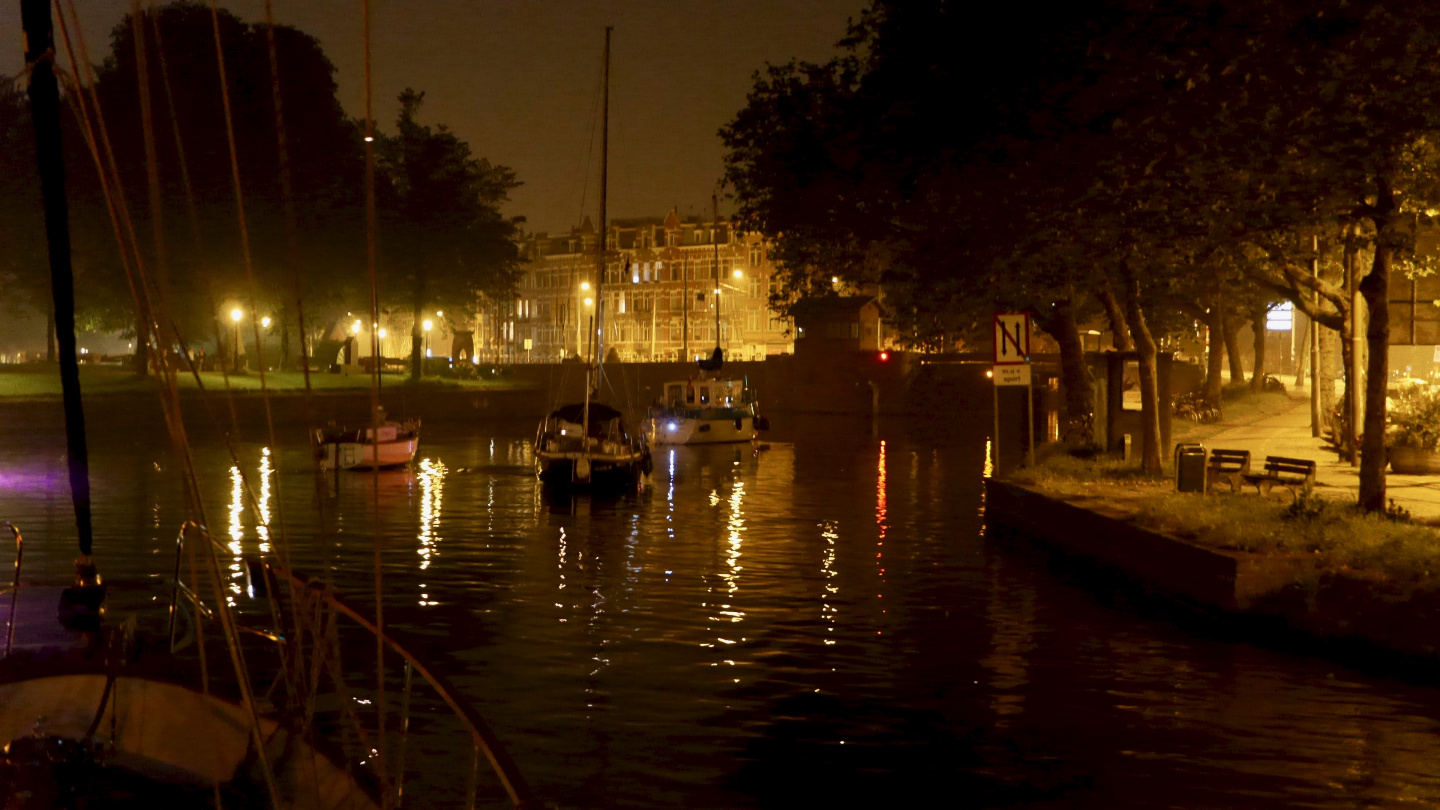 The night convoy in Amsterdam