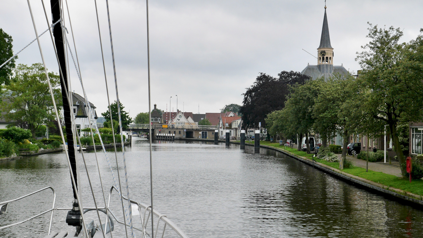 The town's waterfront on Staande Mast route