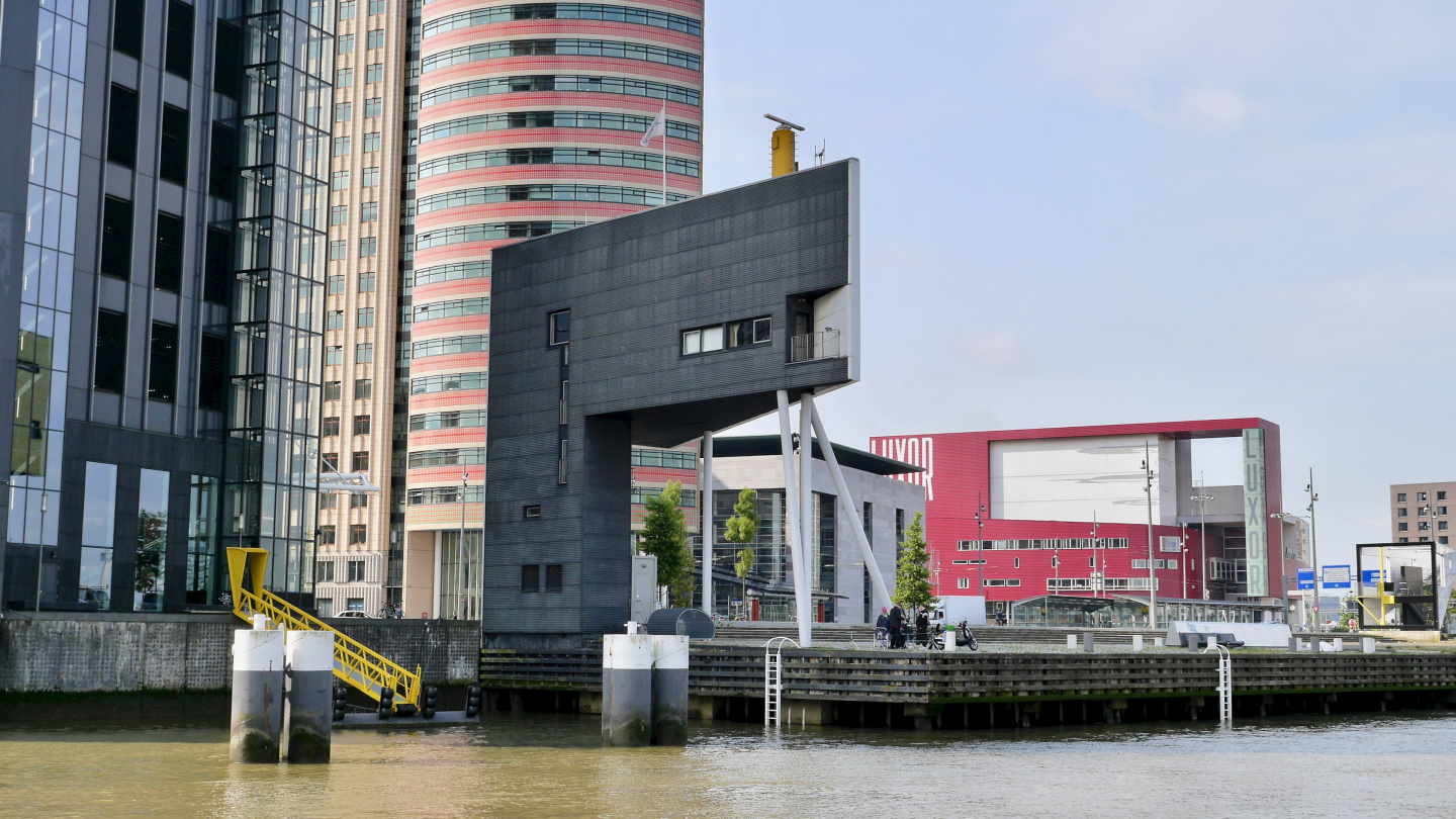 VTS control tower on the Maas river in Rotterdam
