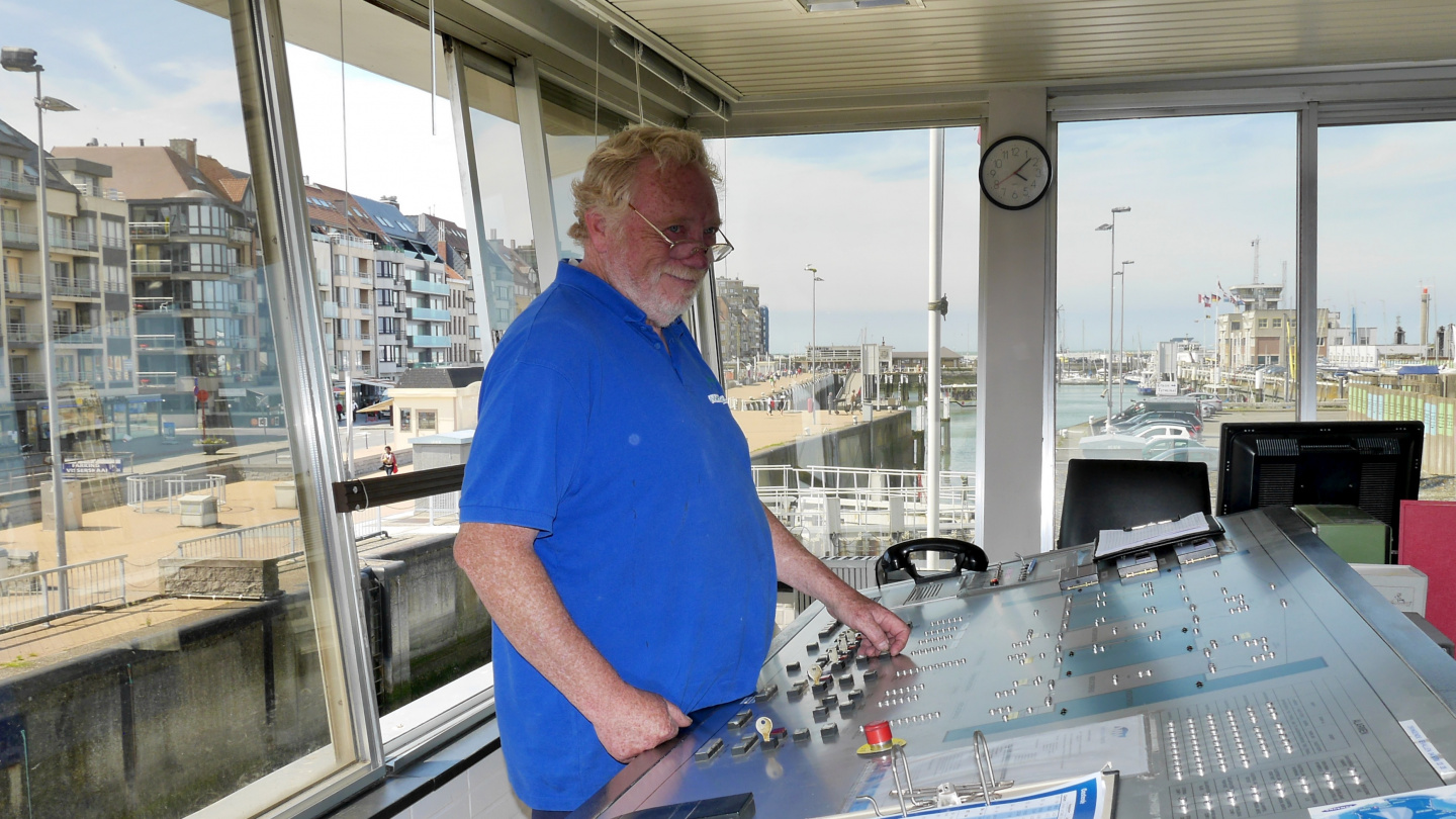 Friendly harbourmaster and lockkeeper of Mercator marina