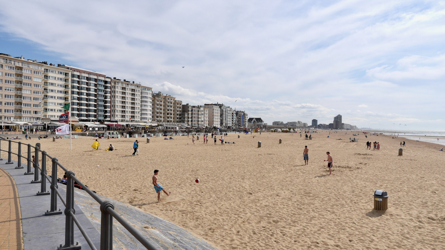 The sand beach of Oostende