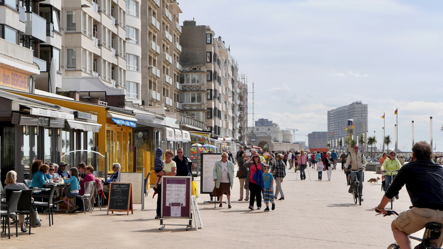 The waterfront in Oostende