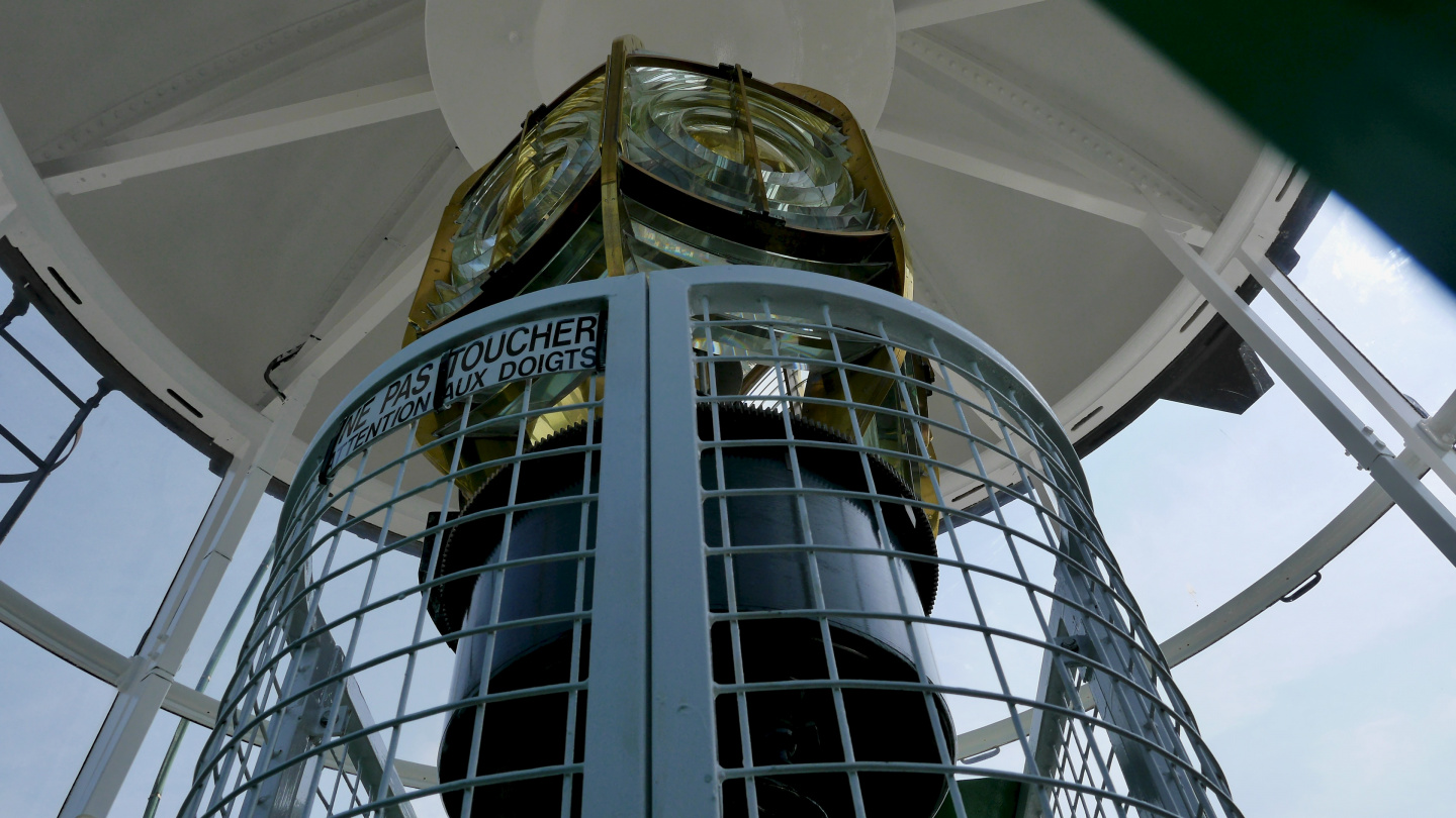 Lenses of the lighthouse of Calais