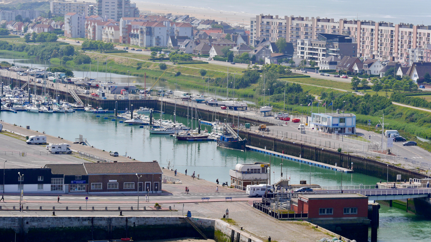 The marina of Calais