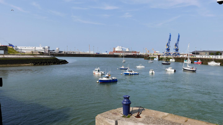 Waiting buoys outside the marina of Calais