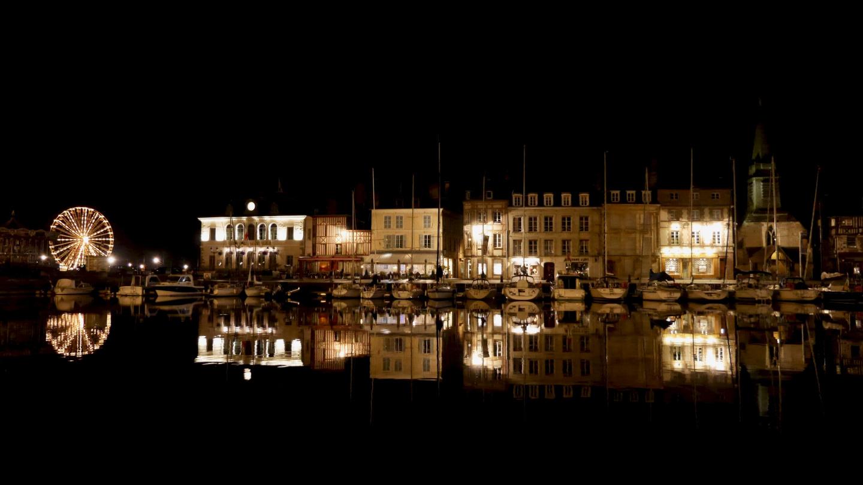 Romantic Honfleur by night
