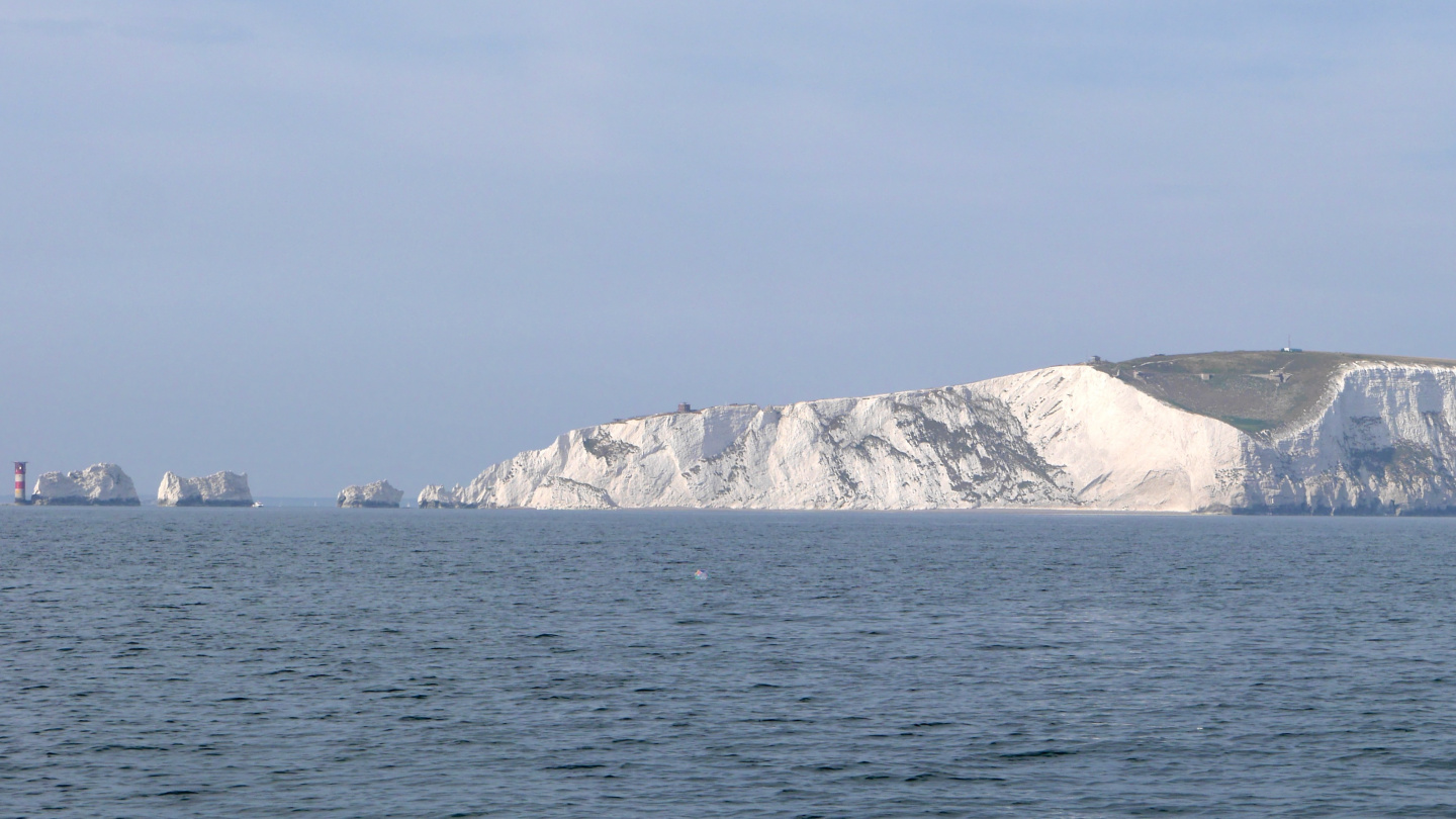 Needles cliffs next to the Isle of Wight