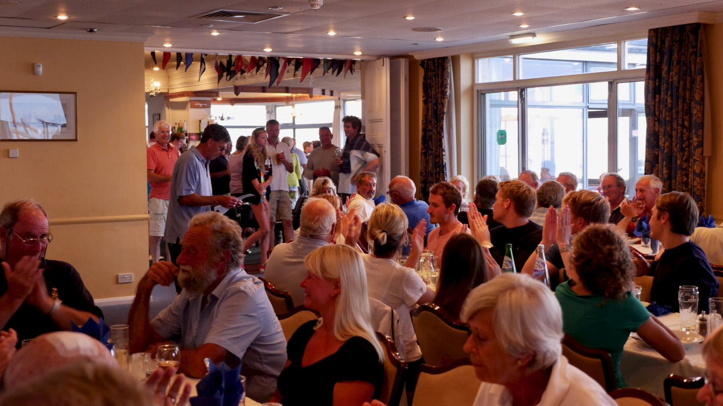 Wednesday club race's dinner at the Royal Solent Yacht Club house