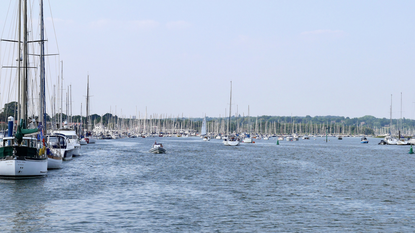 There are 5000 berths on the river Hamble