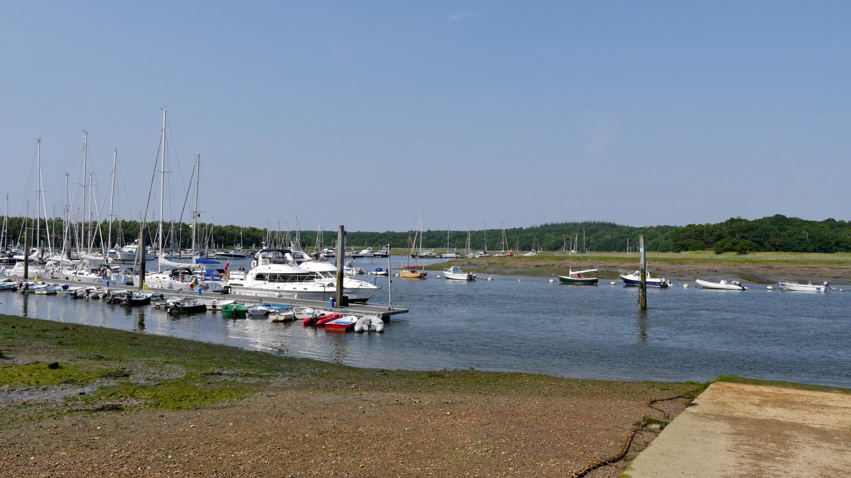 Buckler's Hard marina on the Beaulieu river