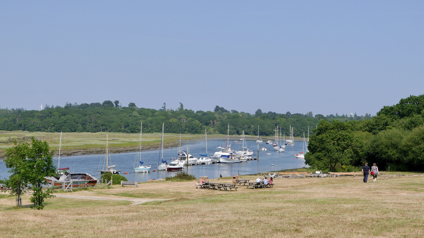 Mooring bouys on the Beaulieu river