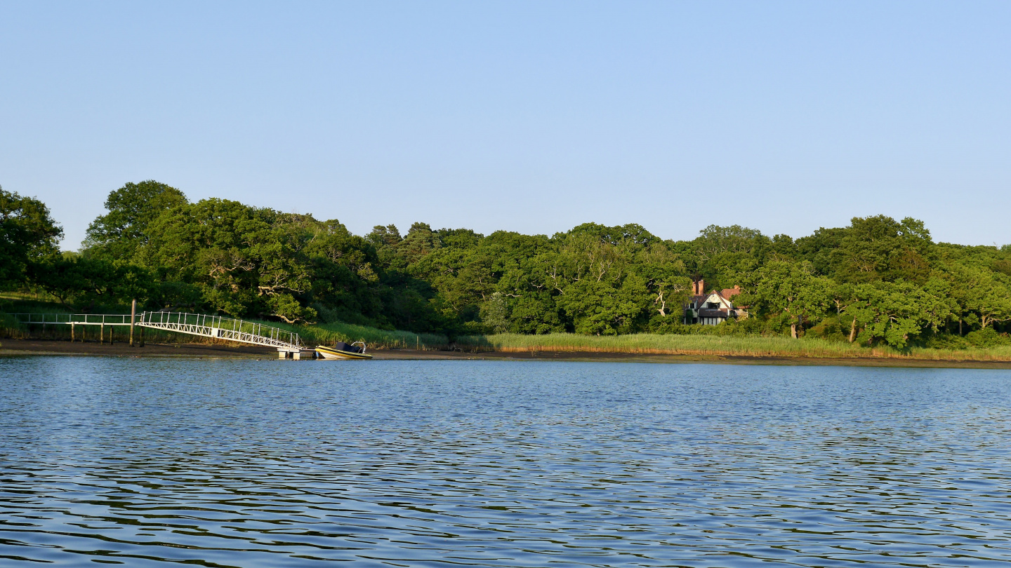 English countryside on the Beaulieu river