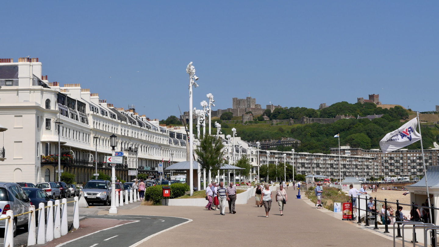 The waterfront of Dover