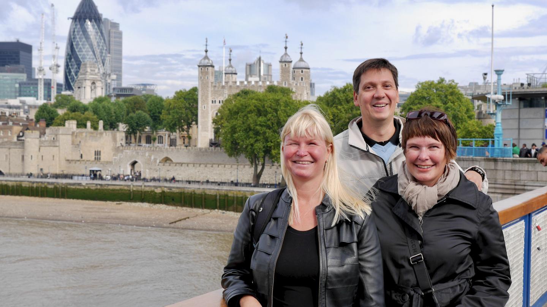 Eve, Tuovi ja Teemu Lontoossa