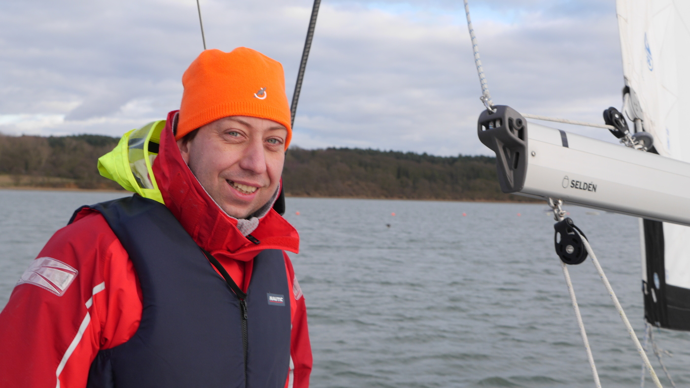 The first sail of Andrus on the river Orwell in the season of 2014