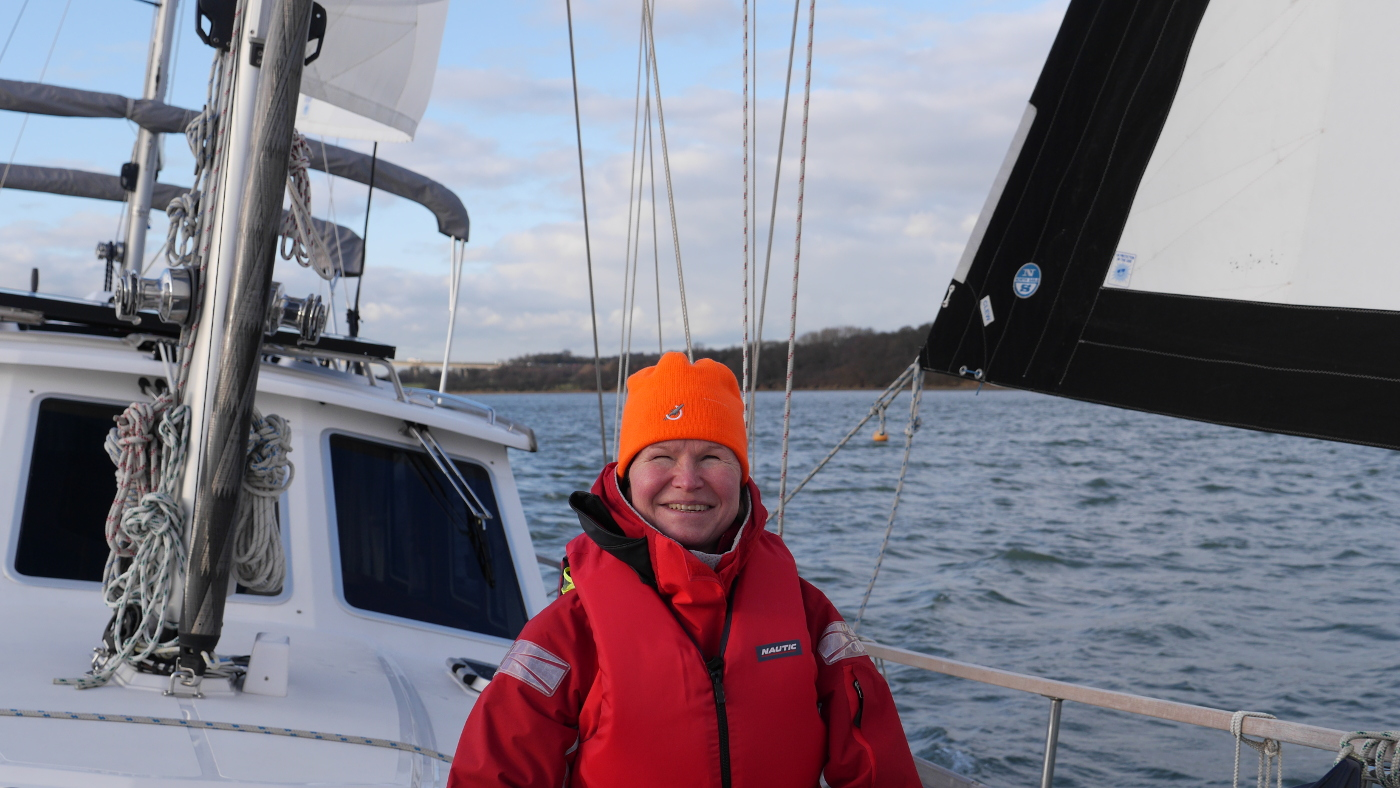 The first sail of Eve in the season of 2014 on the river Orwell