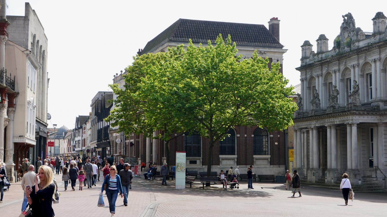 The walking Street of Ipswich