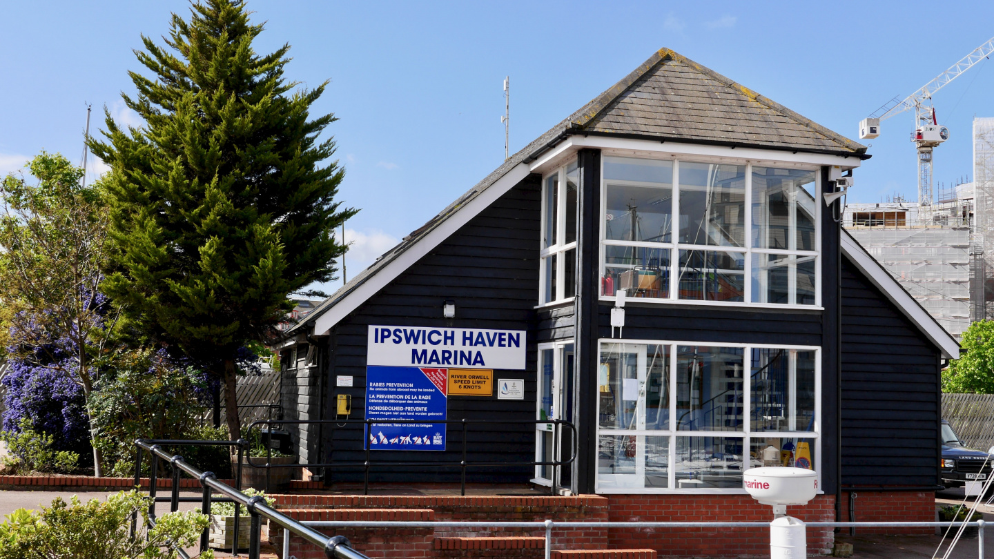 Service building of Ipswich Haven Marina