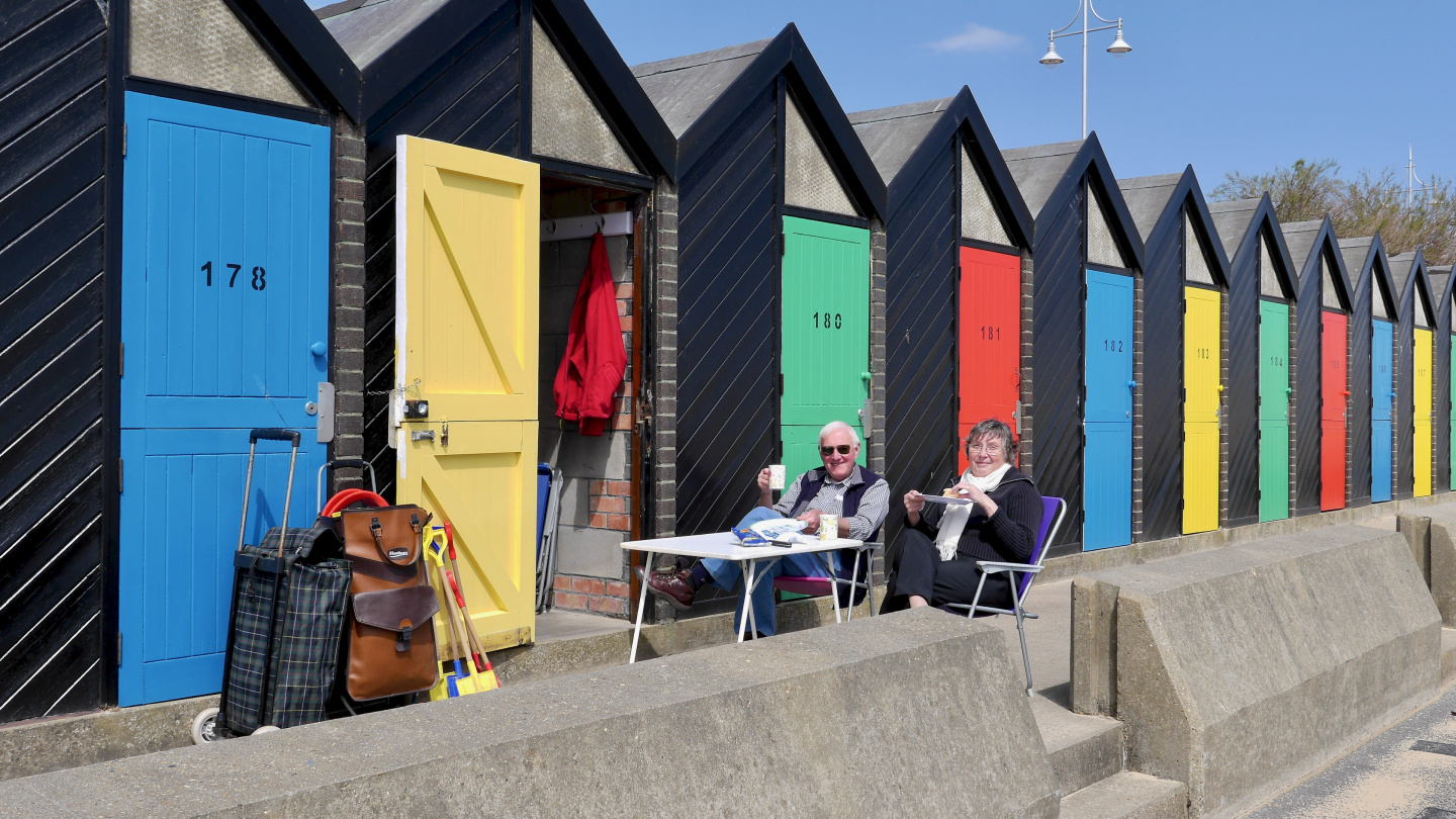 English beach houses in Lowestoft