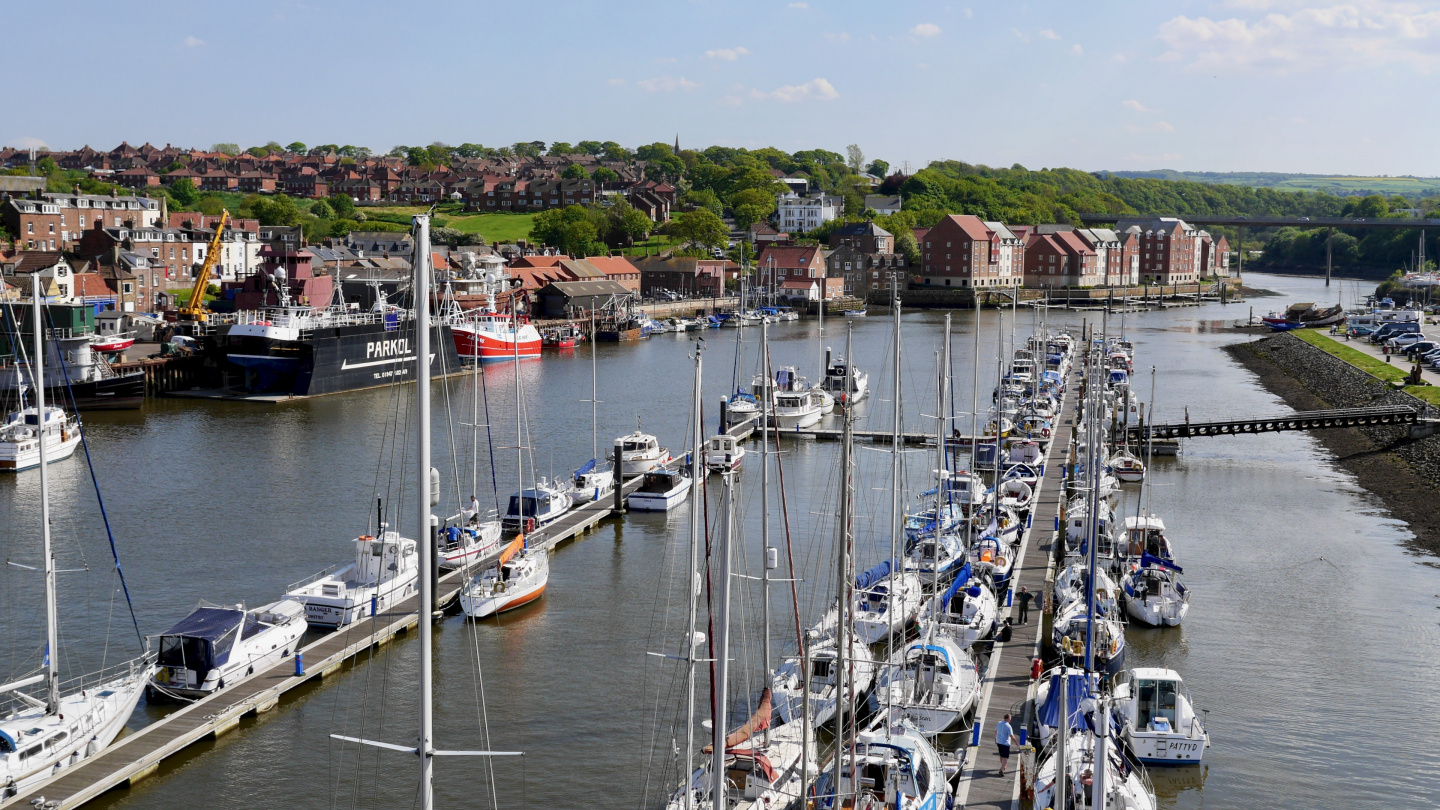 The boat harbour of Whitby