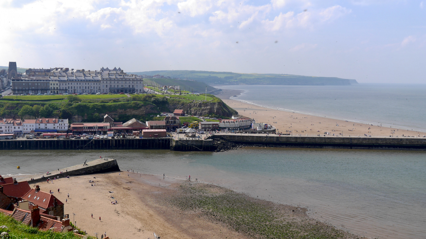 The beaches of Whitby