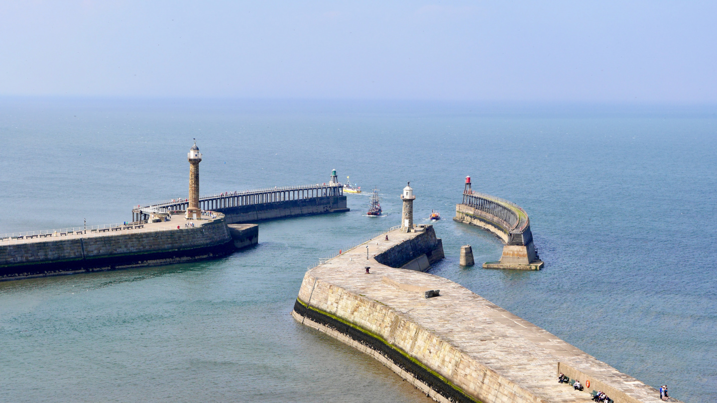 The breakwater of Whitby