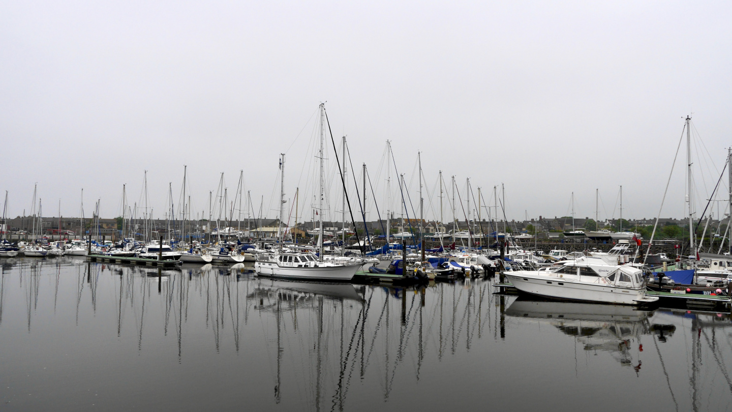 Suwena in the marina of Amble