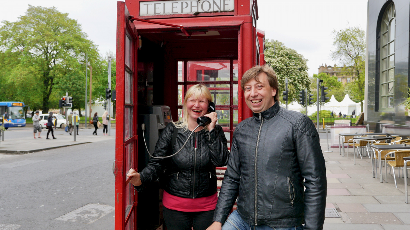 On 2014 Eve and Andrus found a phonebooth in Edinburgh