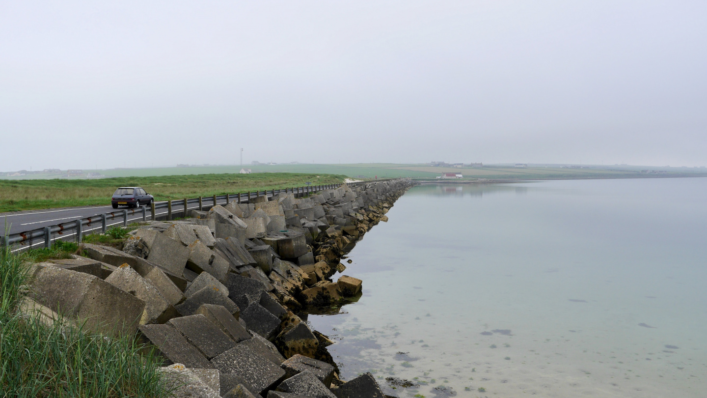 Churchill barriers in Orkney