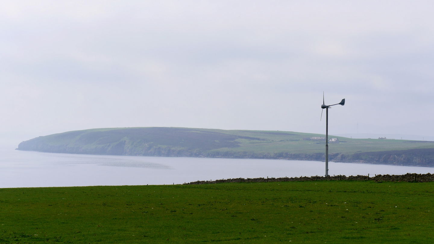 Windmills at the farm in Orkney