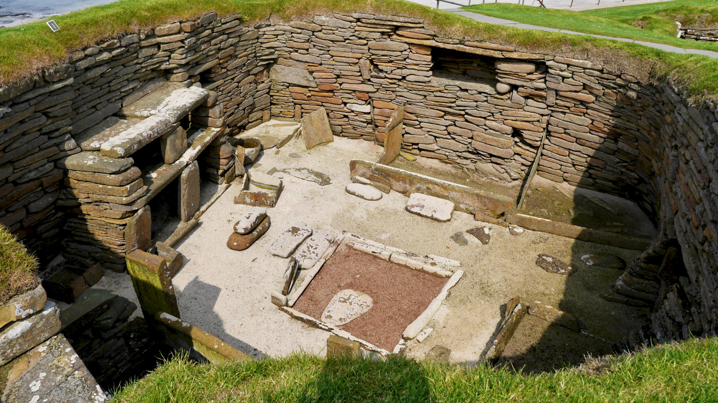 Original stone age house of Skara Brae