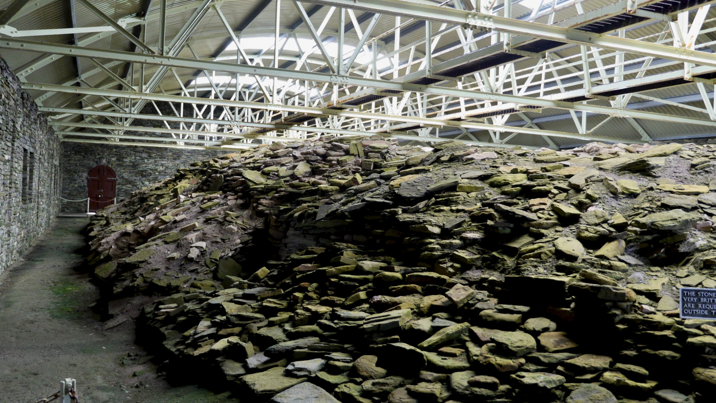 Midhowe Cairn on the island of Rousay on Orkney