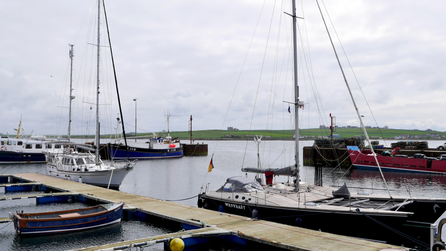 Pirowall marina in Westray